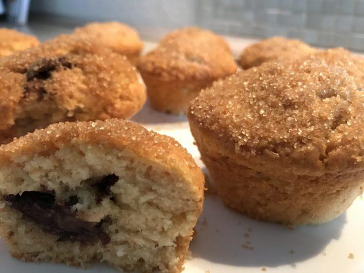 Nutella-Muffins mit knuspriger Zucker-Zimt-Kruste